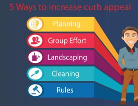 5 ways to improve curb appeal blog graphic