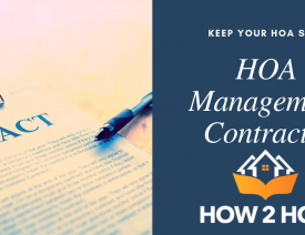 Contracts for Homeowners Association Management