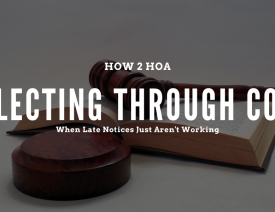 Blog header for collecting HOA late fees through small claims court